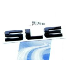 1x OEM Black SLE Nameplate Emblem Badge Sierra Chevrolet SILVERADO b FU