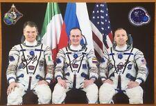 """Soyuz MS-05/ISS-52/ISS-53. S.Ryazansky. P. Nespoli. R. Bresnik Sgn photo 8""""x12"""""""