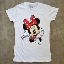 Disney Minnie Mouse Maglietta Bianco New