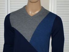 Armani Exchange Authentic Colorblock V Neck Sweater NWT