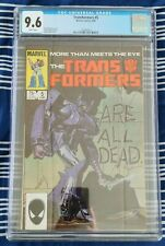 Transformers #5 (Marvel 1985) CGC 9.6 NM+, classic Shockwave cover