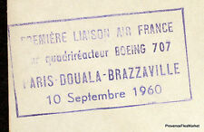 1960 BOEING 707 PARIS DOUALA BRAZZAVILLE    Airmail Aviation premier vol AC08