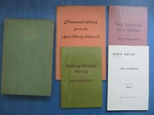 Five limited edition poetry books and booklets signed by the poets