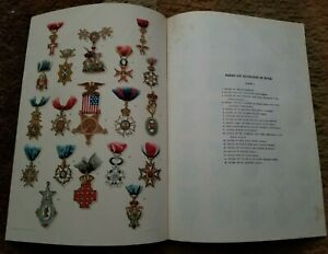 1896 (44) BADGES AND DECORATIONS HONOR Medals by Julius Bien (2) COLORED PLATES