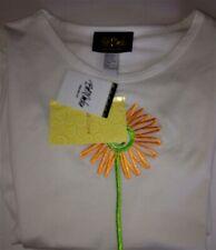BOB MACKIE Wearable Art COTTON TOP L Flower Shirt NEW Tee NWT LARGE