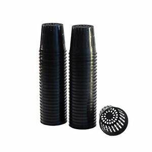 "50 Pack Lightweight Economy Net Pot Cups for Hydroponics & Aquaponics 2"" Diamete"