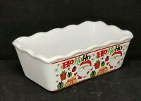 Old Time Pottery Sugar Packet Small Cake Bread Baking Christmas Ho Ho Dish 3x5