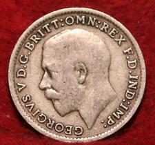 1921 Great Britain 3 Pence Silver Foreign Coin