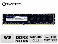 8GB DDR3L 1600MHz PC3L-12800 Non ECC Unbuffered 1.35V/1.5V CL11