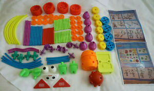 Vtg 90s Crazy Constructions COMPLETE 116pc + More Playskool TinkerToy Set Robots
