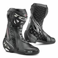 TCX RT-Race Moto Motorcycle Bike Leather Boots Black