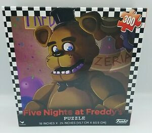 Five Night At Freddy's Funko 300 Piece Puzzle 18x24 Cardinal 2017 Brand New