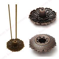 9 Holes Lotus Incense Burner Holder Flower Statue Censer Plate For Sticks & Cone