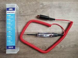 New OTC 6-12V Heavy Duty Coil Cord Circuit Tester / Test Light w/Red Light #3636