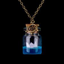 Wishing Bottle Sea Ocean Glass Pendant Mermaid Tears Shell Star Necklace Jewelry