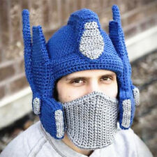 Hand Made Knitted Woolen Cap Transformers Optimus Prime Adult Child Full Code