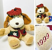 Dated Christmas 1999 Boy Dog Commemorative Brown Plush Stuffed Animal Toy 22""
