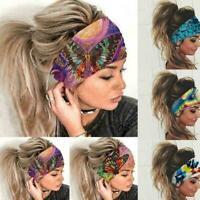 Women Wide Sports Yoga Headband Stretch Hairband Elastic Turban Hair Boho J8P4