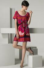 100% authentic M Missoni Splash Floral Jersey Dress sz 42 /6