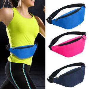 Sport Waist Bags Pouch Fanny Pack Travel Running Belt Zip Bum Bag Unisex