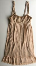 NWT Authentic MISSONI GOLD METALLIC LUREX CROCHET Mini DRESS Size 38 EU