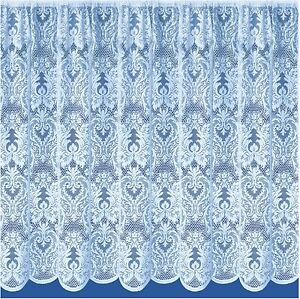 WINDOW PRIVACY NOTTINGHAM THICK FLORAL WHITE LACE NET CURTAIN SOLD BY THE METRE
