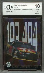1996 press pass f.q.s. #fqs4b DALE JARRETT CAR BGS BCCG 10