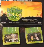 RICK and MORTY Season 1 COMPLETE 45 Card BASE SET with BOX & Wrappers Cryptozoic