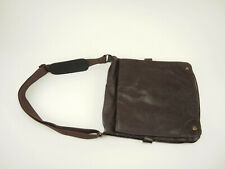 WILSONS Brown Leather Slim Messenger Cross-body Flap Bag