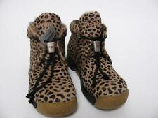 $290 GIUGIARO ITALY BUMPER REAL PONY HAIR FUR CAT PRINT HIKING BOOTS SHOES~36