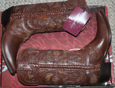 LUCCHESE M4632 S54 WHISKEY TOOLED CAMEL CHEETAH #9us $650