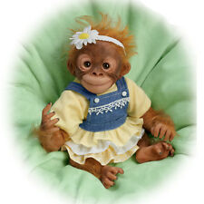 Ashton Drake - DARLING DAISY Lifelike Poseable Monkey Baby Doll by Amy Ferreria