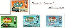 Bahamas 1970 Goodwill Caravan SG347-50 Mint MH