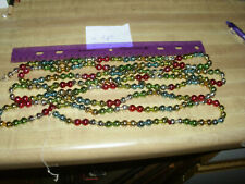 Vintage larger bead 8 ft Japan Chain Garland Multi Colors Glass Beaded Garland