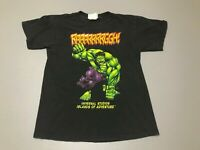 Vintage 90s 1998 The Incredible Hulk Universal Studios Distressed T-Shirt Size S