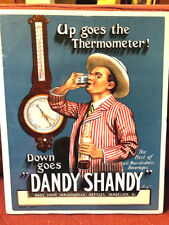 Dandy Shandy colorful ad sign - 1920s? - non-alcoholic beverage