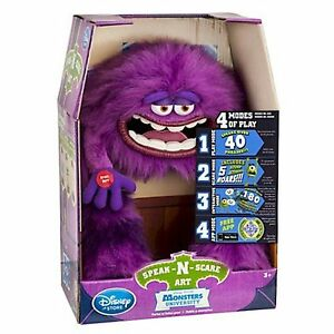 New Monsters Inc University Speak 'N And Scare Art Interactive Plush Toy