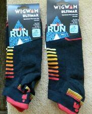 Wigwam 2 pk Ultimax Ironman mens black XL(12-15)socks w/red&orange accents