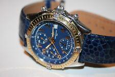 Señores reloj Breitling chronograph d13050.1 Automatic acero oro