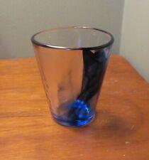 1 BORMIOLI ROCCO MURANO COBALT BLUE SWIRL SHORT TUMBLER GLASS