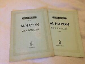 Michael Haydn: Vier Sonaten für Violine und Viola, Heft I und II