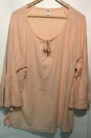 Old Navy Womens Flare Sleeve Tie Front Blouse Top Blush Size XXL 2XL