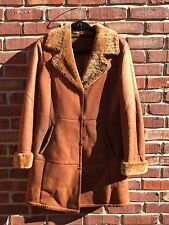 Hide Society Shearling Sheepskin Fitted Jacket Coat Brown 6 $2250 NORDSTROM!