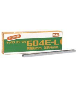 Original Max Tapener Staples 604E-L Tape Staples Box 4800 New