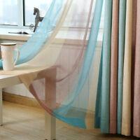 "Colorful Rainbow Striped Sheer Curtain Simple Shade Cloth Window Drape 63/84/96"""