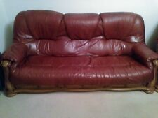 DFS 3 Seater Leather Sofa and 2 Arm Chairs