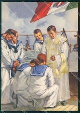 Militari Marina Tricolore D'Ercoli Boeri FG cartolina XF7215