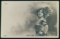 Eugenie Fougere Theater theatre Edwardian Lady old c1900-1910s photo postcard