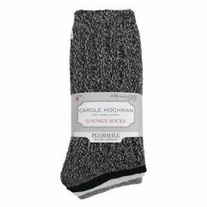NEW Women's Carole Hochman 4 PACK Sock Lounge Super Soft Plush Fill Socks NWT!!!