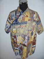 vintage VIA CORTESA 90`s Hemd crazy pattern shirt oldschool 90er Jahre XL